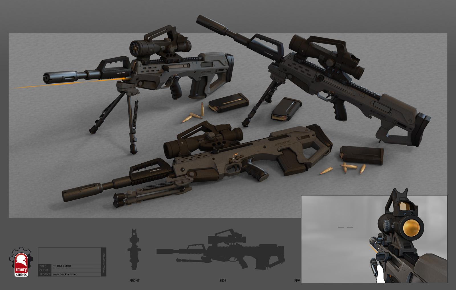 Future Military Weapons Blacktank is set in the near